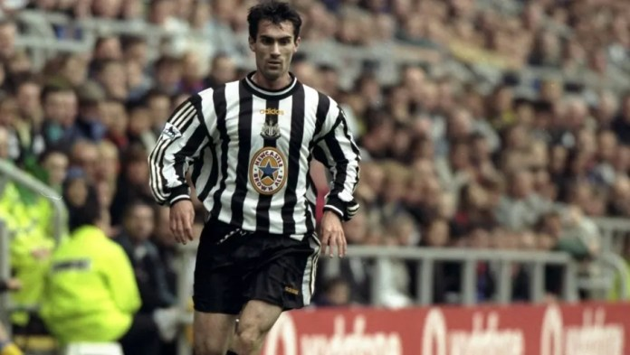 12 Sep 1998: Keith Gillespie of Newcastle in action in the FA Carling Premiership match against Southampton at St James'' Park in Newcastle, England. Newcastle won the game 4-0.  Mandatory Credit: Allsport UK /Allsport