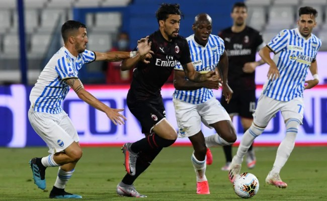 Spal 2 2 Ac Milan Late Own Goal Hands Rossoneri