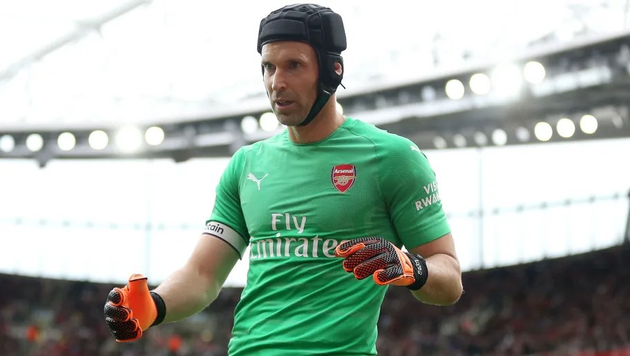 LONDON, ENGLAND - AUGUST 12: Petr Cech of Arsenal during the Premier League match between Arsenal FC and Manchester City at Emirates Stadium on August 12, 2018 in London, United Kingdom. (Photo by James Baylis - AMA/Getty Images)