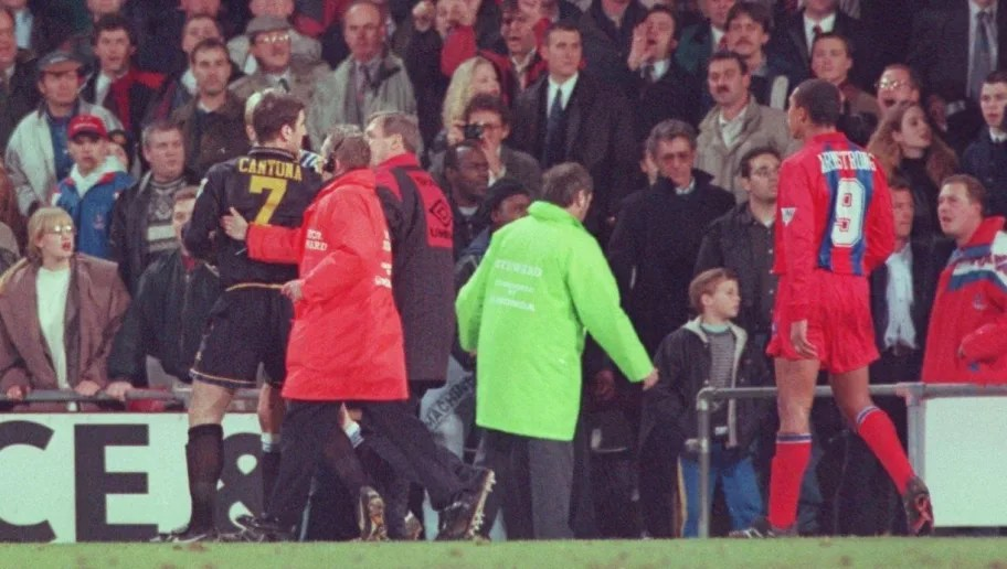 In january 1989 during a friendly game against torpedo moscow he kicked the ball at the crowd, then ripped off and threw away his shirt after being substituted. How A Shocked Alex Ferguson Reacted To Eric Cantona Kung Fu Kick At Selhurst Park 90min