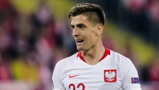 Krzysztof Piatek in action for Poland