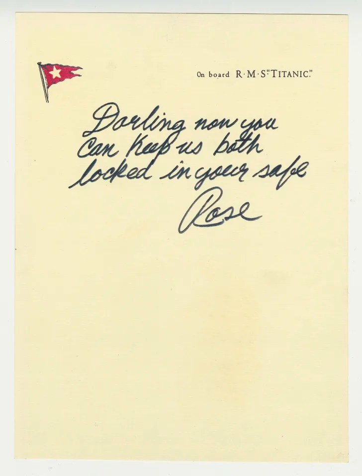 A letter from Titanic