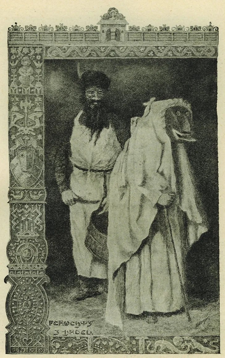 A Bohemian depiction of Frau Perchta circa 1910