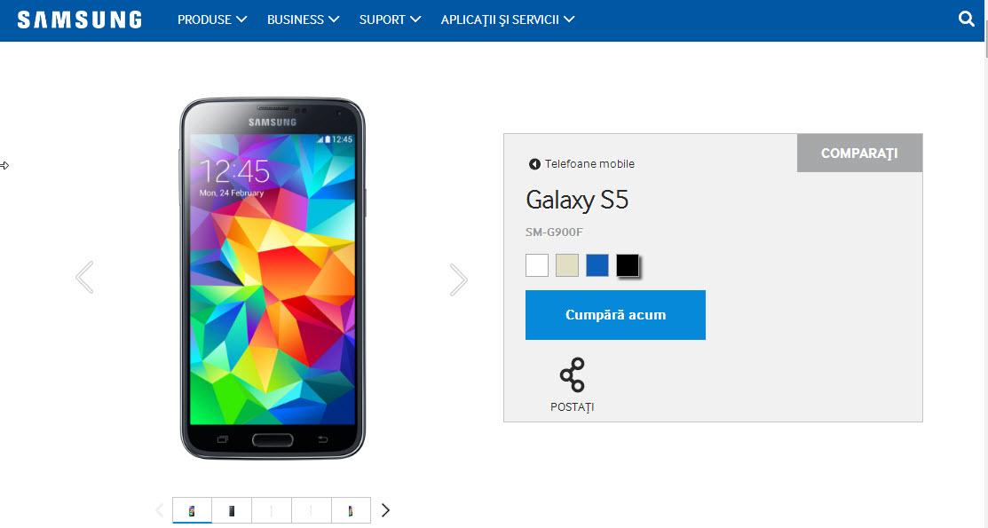 Samsung.com oferă acum opțiunea de a cumpăra produse direct de pe site În Europa (În România Încă nu!)