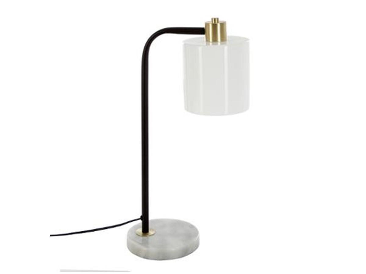 lampe a poser en metal et marbre olga atmosphera