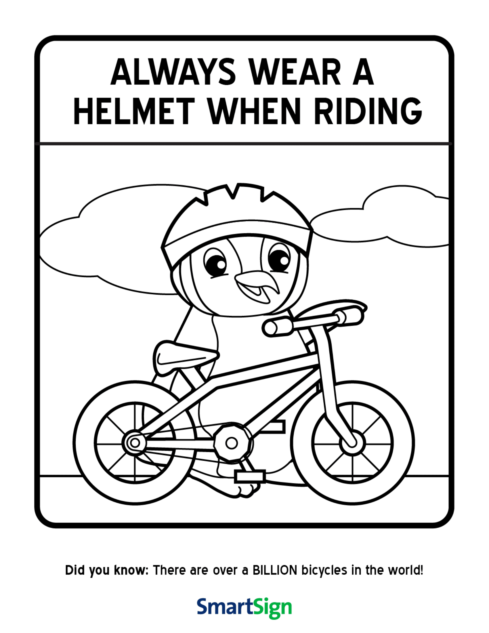 Bike Helmet Safety Worksheets