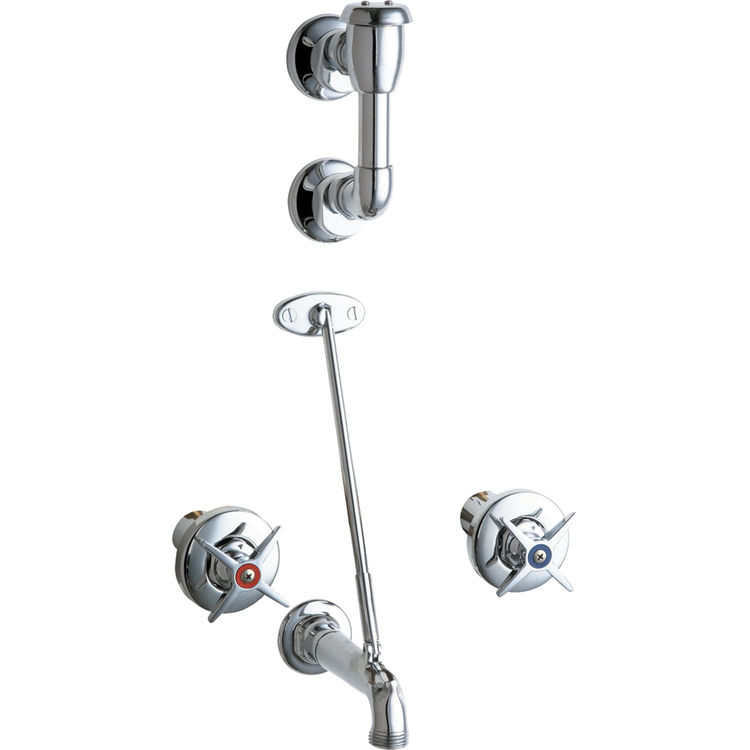 Chicago Faucets 911-CP Concealed Hot and Cold Sink Faucet