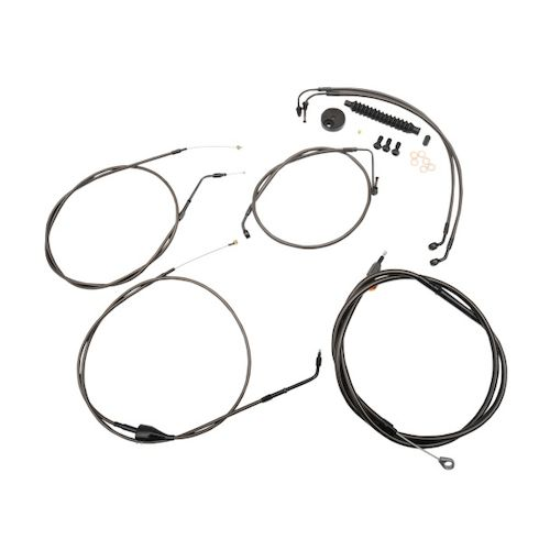 LA Choppers Handlebar Cable And Brake Line Kit For Harley