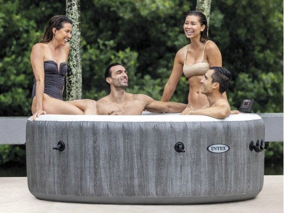 spa gonflable purespa baltik rond bulles 6 places intex