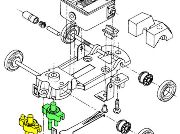 HO Slot Car Tyco-S Guide Pins (4SZYY4B63) by highwingpilot