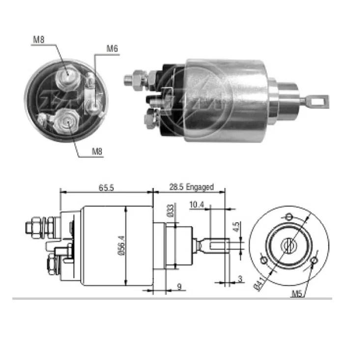 Automático Motor Partida 12v Fiat Ducato 2.8 2000 01 02