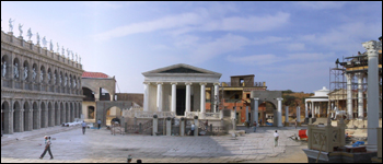 Empire Studios includes a large ancient Roman set and free-standing Forum along with shooting and post facilities.