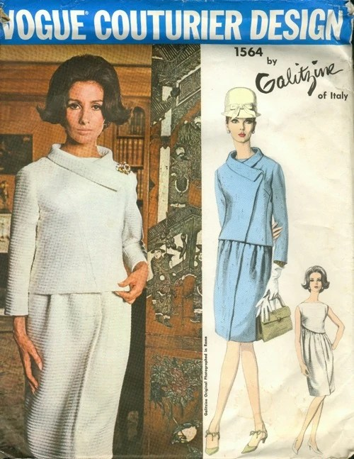 Alberta Tiburzi on a 1960s pattern, Vogue 1564 by Galitzine