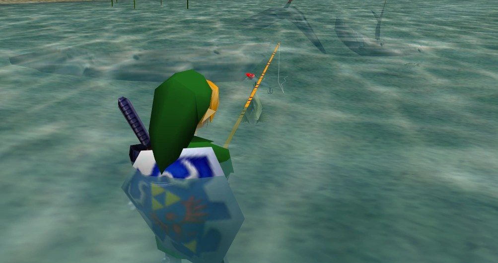 Semi-submerged fishing, for example