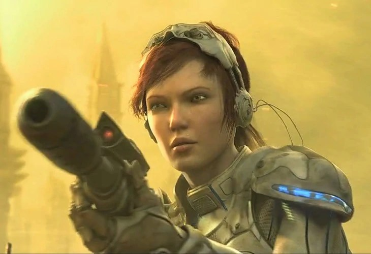 Sarah Kerrigan moments before being captured by the Zerg