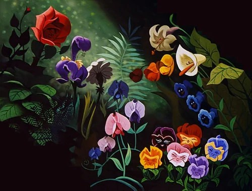 Image result for alice in wonderland 1951 Flowers