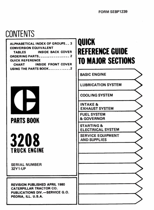 small resolution of photo 3208 parts manual pagina 001 cat sel