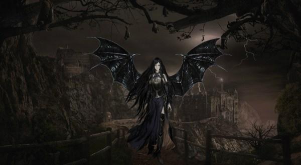 Dark Gothic Wallpaper Vampire Art