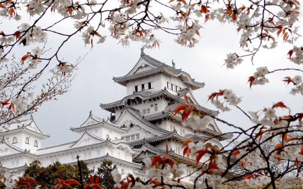 Himeji Castle Hd Wallpaper Background 1920x1200
