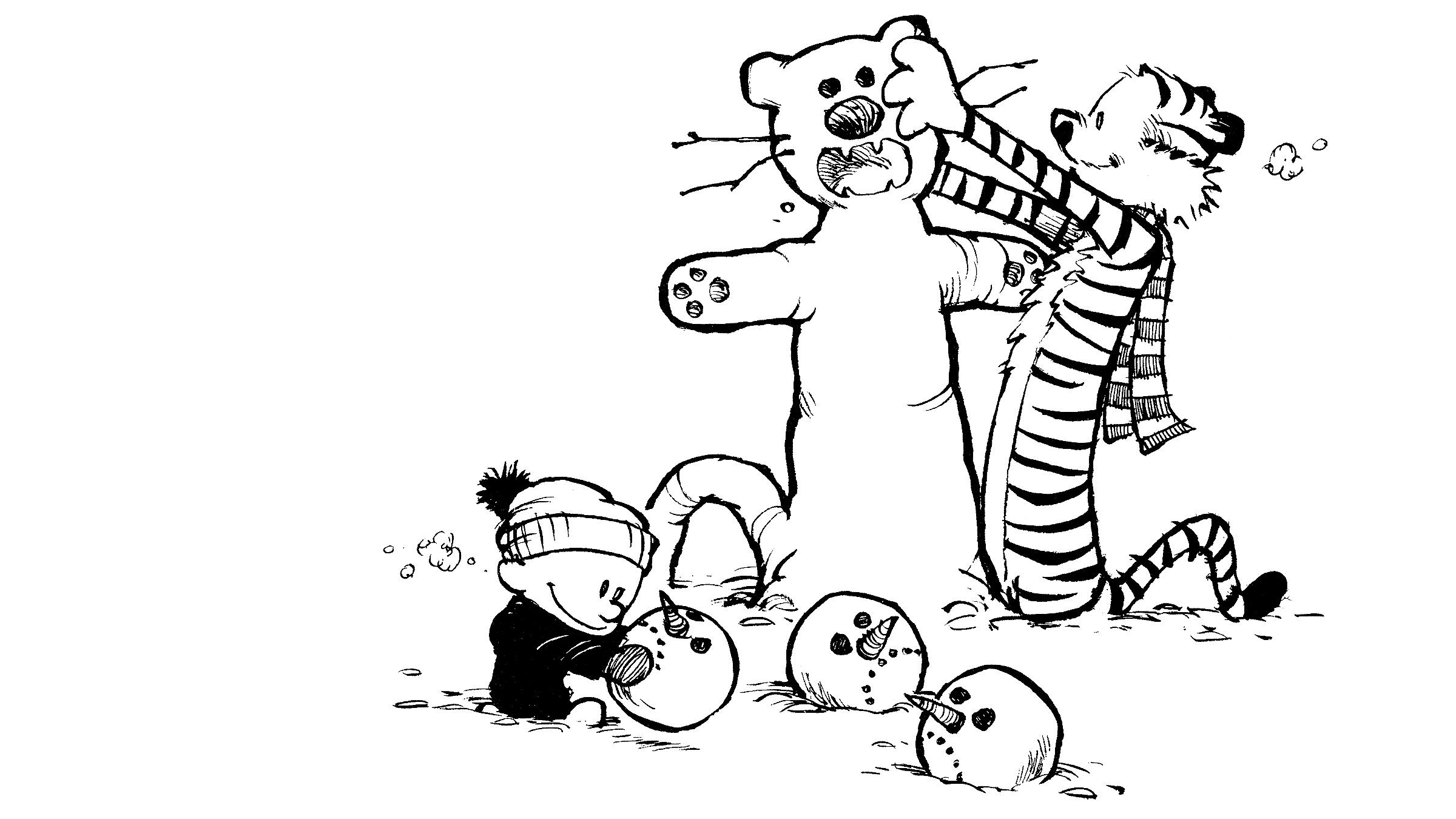 Calvin Et Hobbes Fond D Ecran Hd