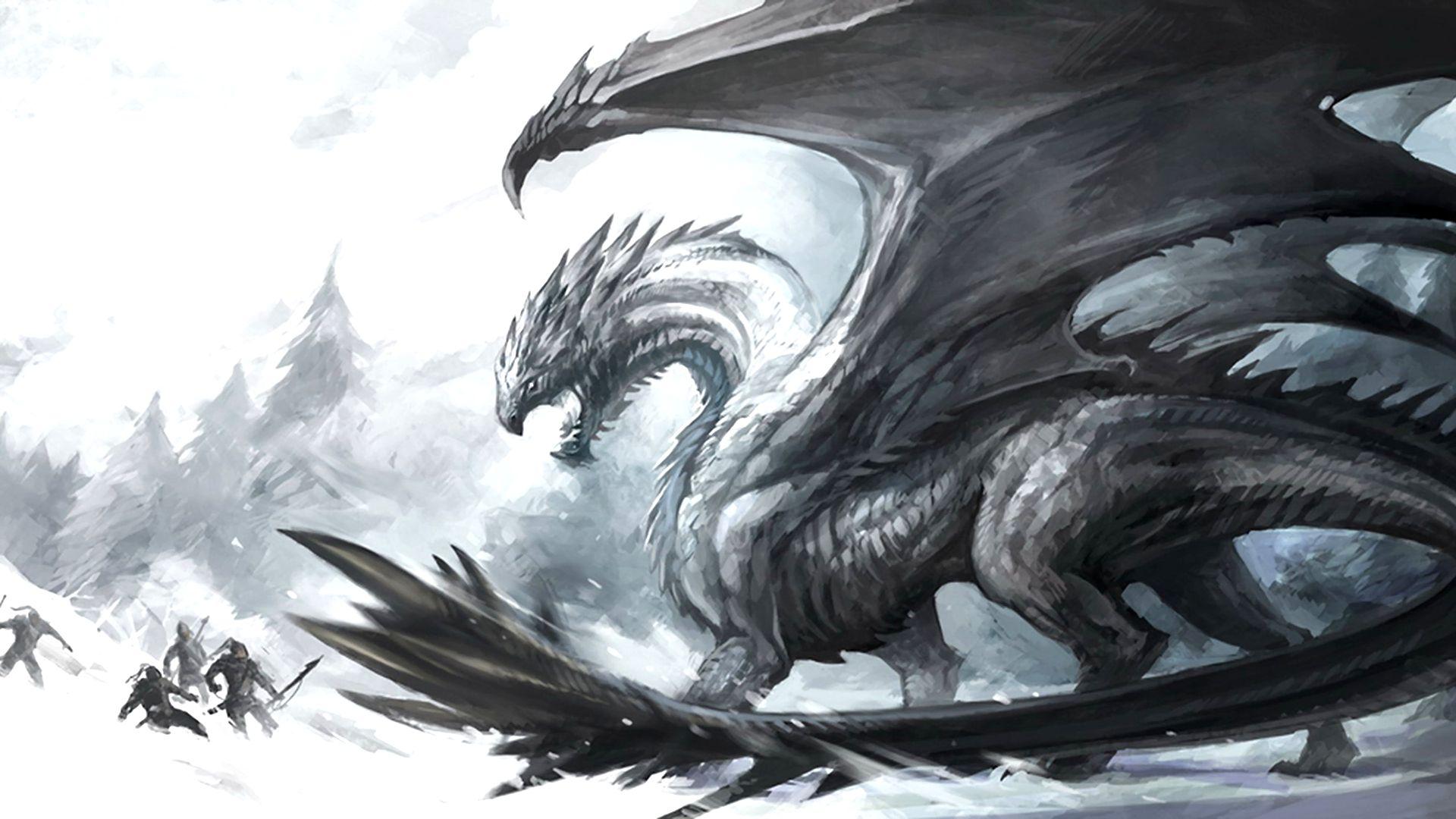 Wallpaper Background Dark Dragon