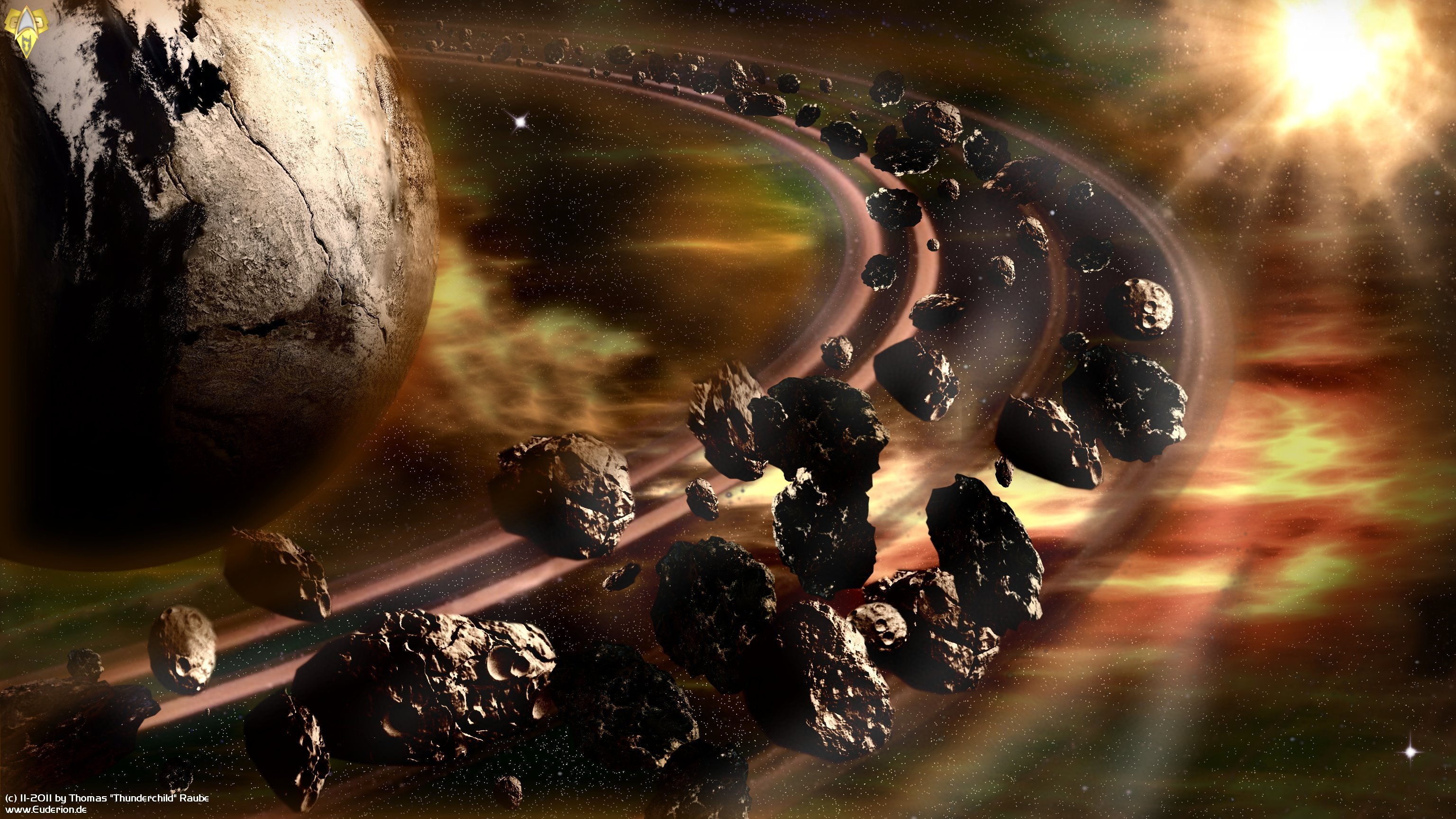 3d Live Wallpaper For Galaxy Y Asteroid Ring Full Hd Wallpaper And Background Image