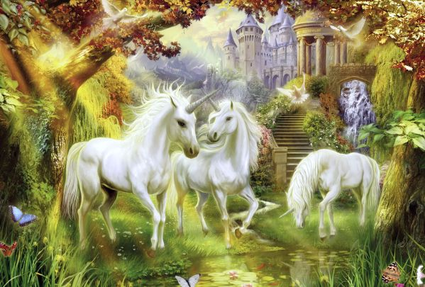 Magical Unicorn Forest 4k Ultra Hd Wallpaper Background