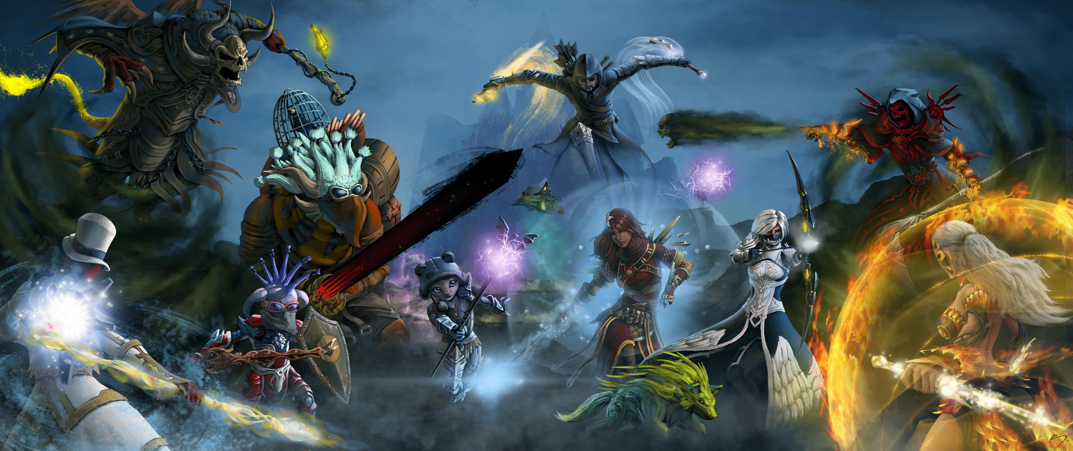 Guild Wars 2 Fond d'écran HD | Arrière-Plan | 3503x1475 | ID:610735 - Wallpaper Abyss