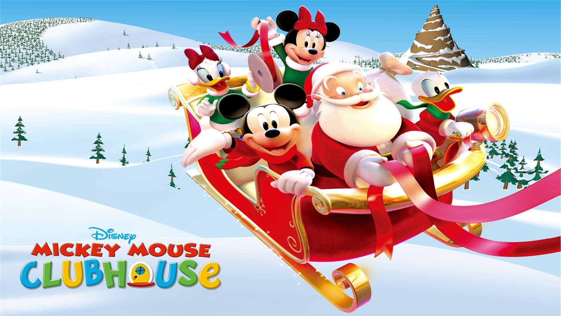 Micky Mouse Clubhouse Christmas Full HD Wallpaper And