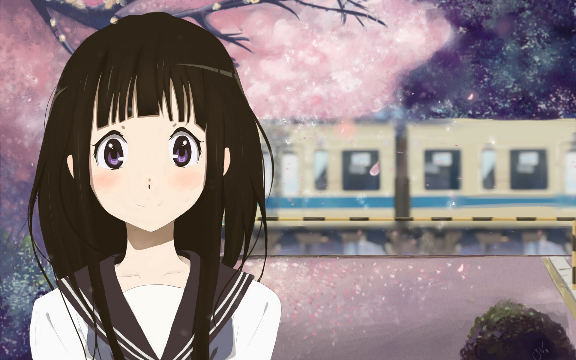 Gun Anime Girl Wallpaper Eru Chitanda 高清壁纸 桌面背景 1920x1200 Id 672882