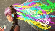 girl with colorful hair hd wallpaper