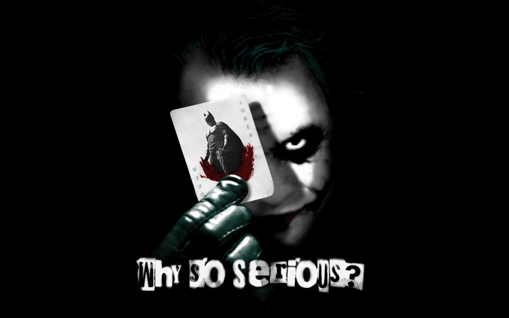 why so serious ?? joker wallpaper and background   1680x1050   id