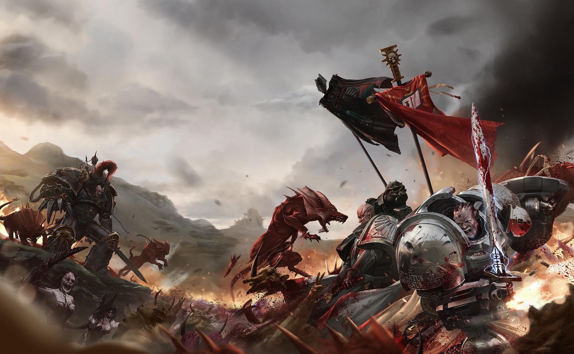 Knights Templar Wallpaper Iphone Warhammer 40 000 Fond D 233 Cran Hd Arri 232 Re Plan