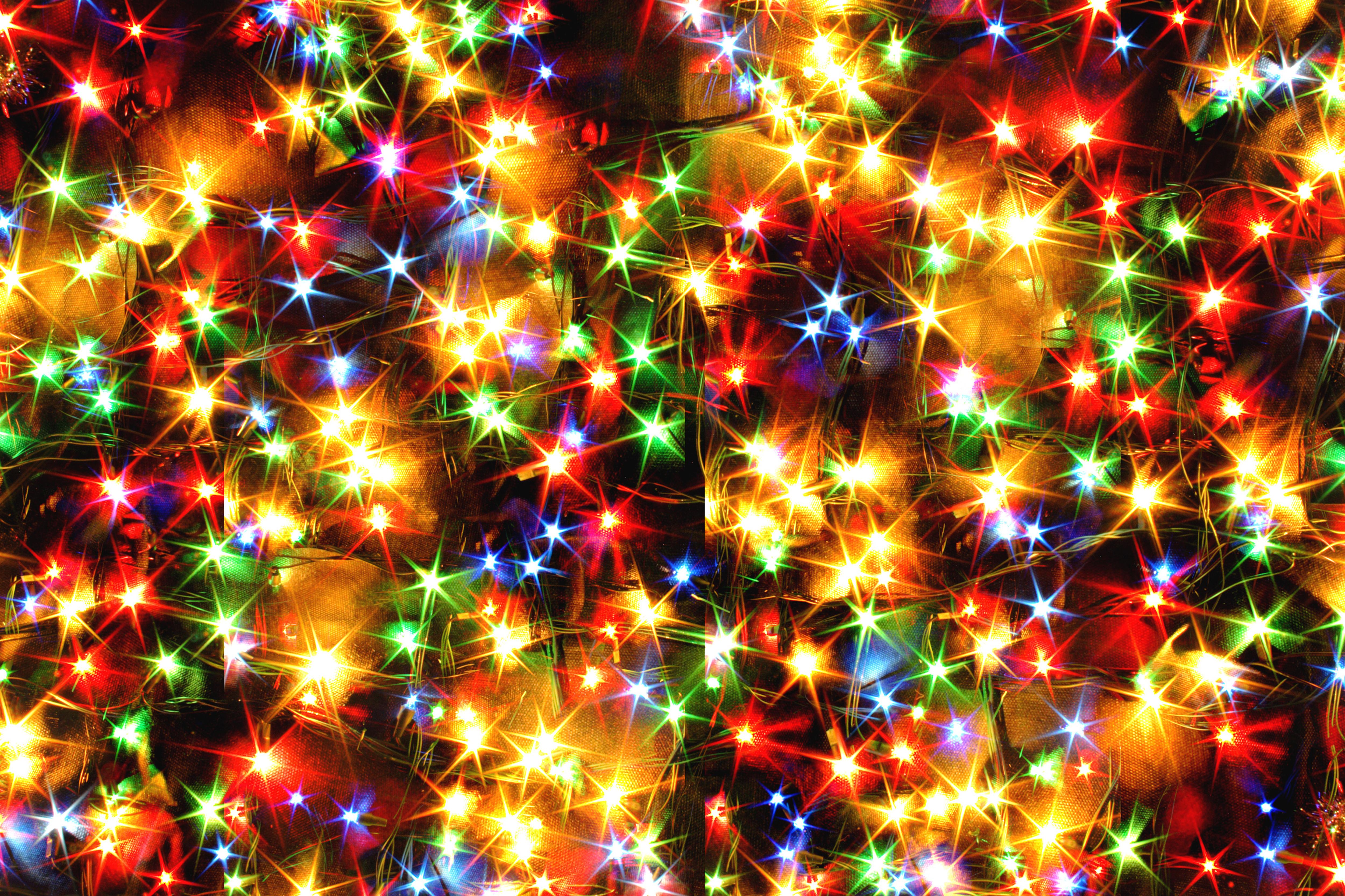 christmas lights 4k ultra