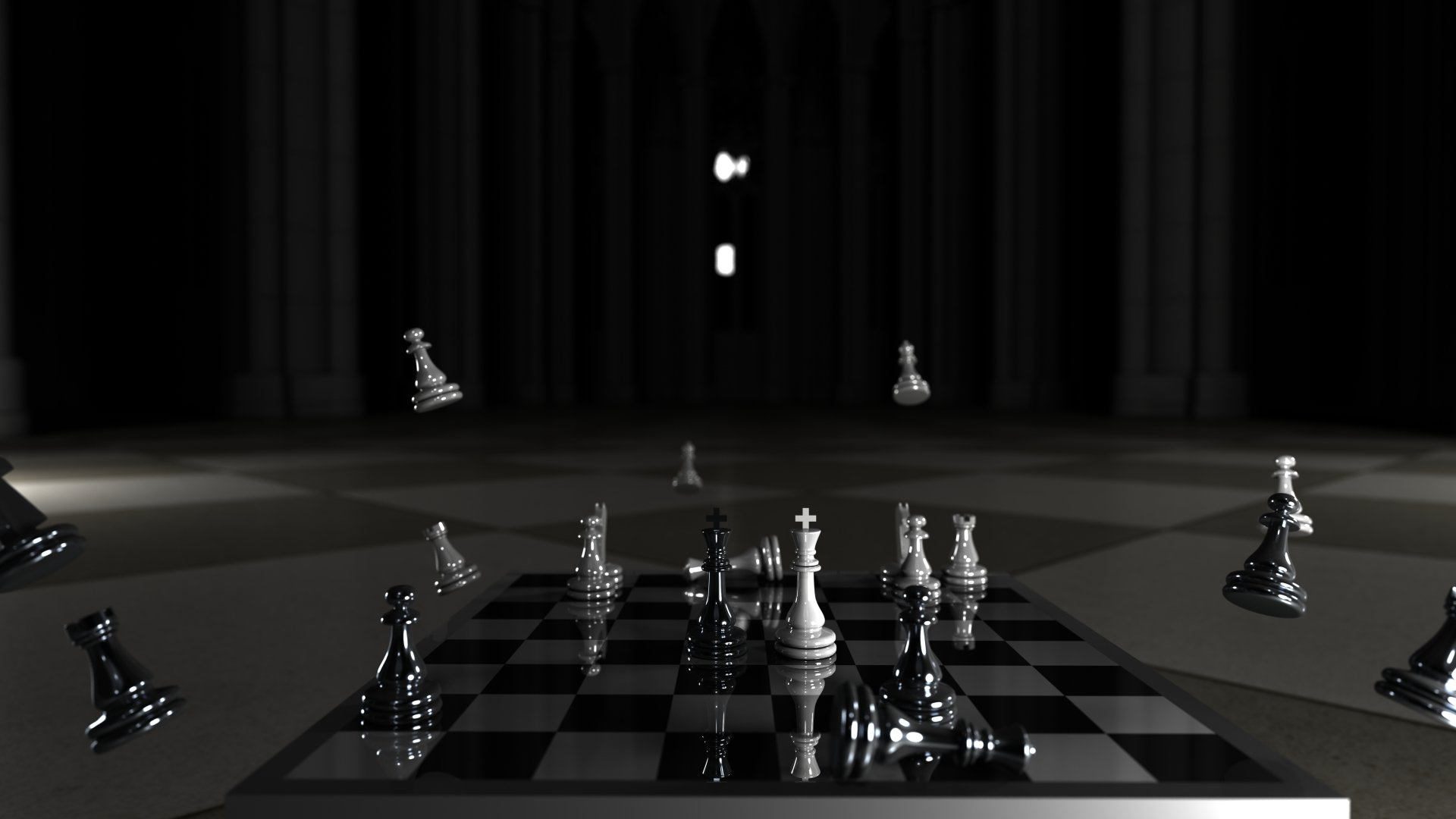 Black And White Chess Wallpaper Checkmate 4k Ultra Hd Wallpaper Background Image