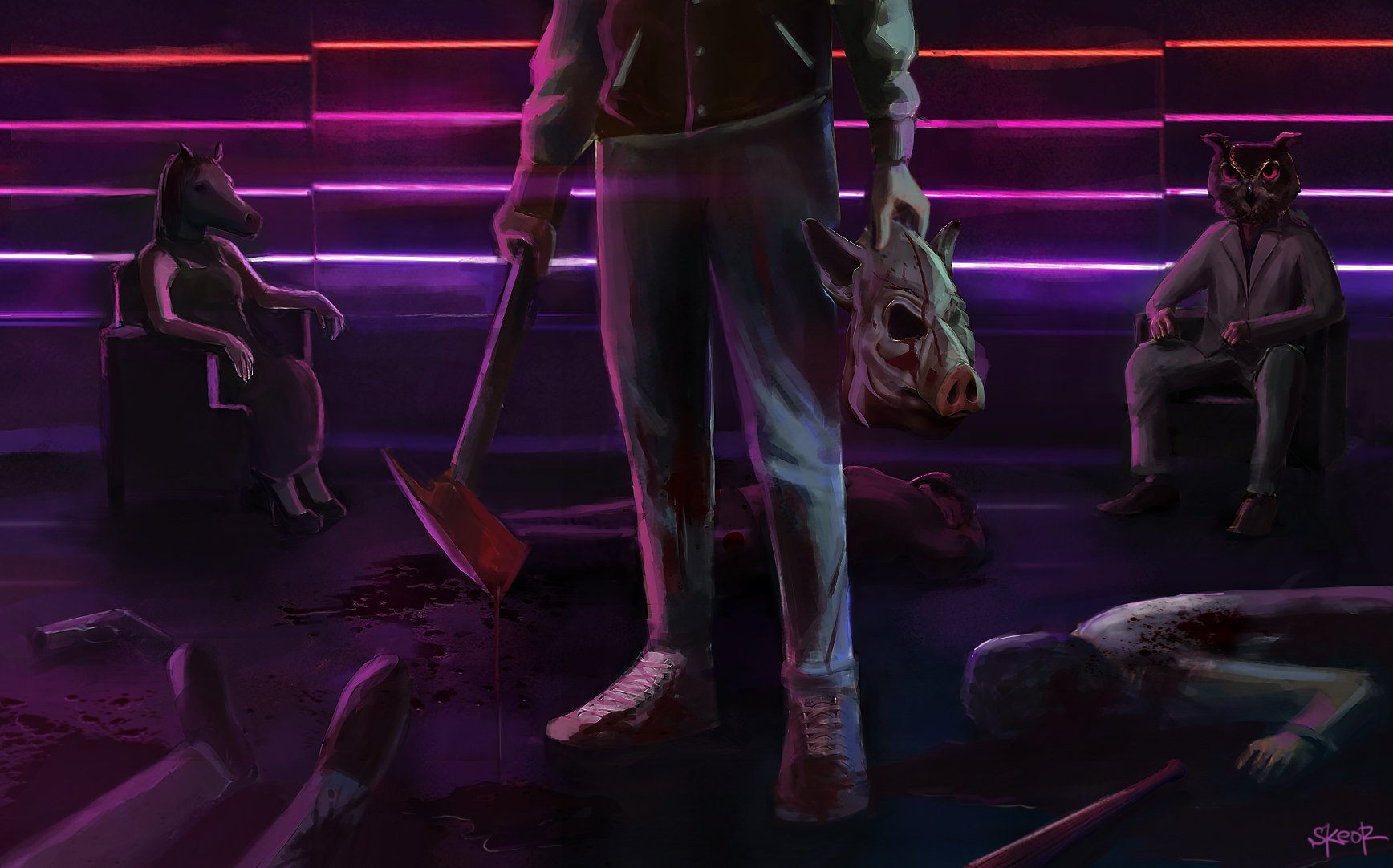 Hotline Miami Car Wallpaper Hotline Miami 2 Wrong Number Wallpaper And Background