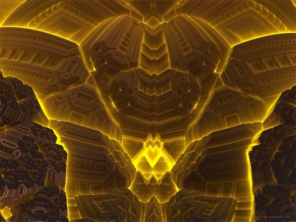 Dark Furnace - 3d Fractal Art Hd Wallpaper Background