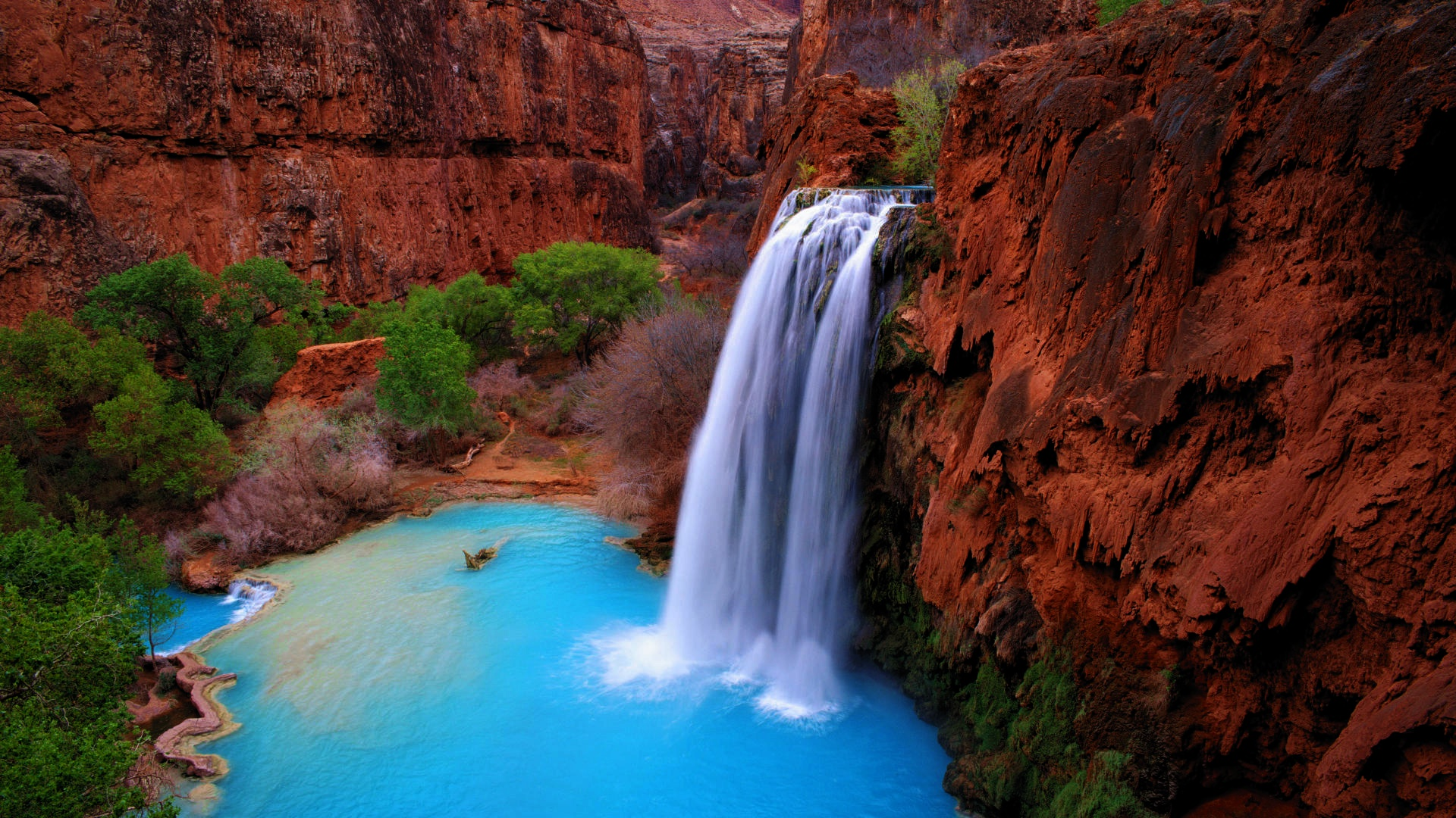 Cool Wallpapers Water Fall 9 Havasu Falls Hd Wallpapers Background Images