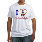 I Love My Autistic Granddaughter Fitted T-Shirt