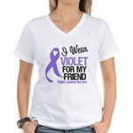 I Wear Violet For My Friend Women's V-Neck T-Shirt