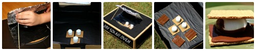 Make smores in solar oven