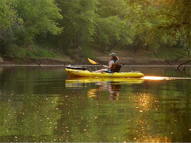 Woman in yellow kayak