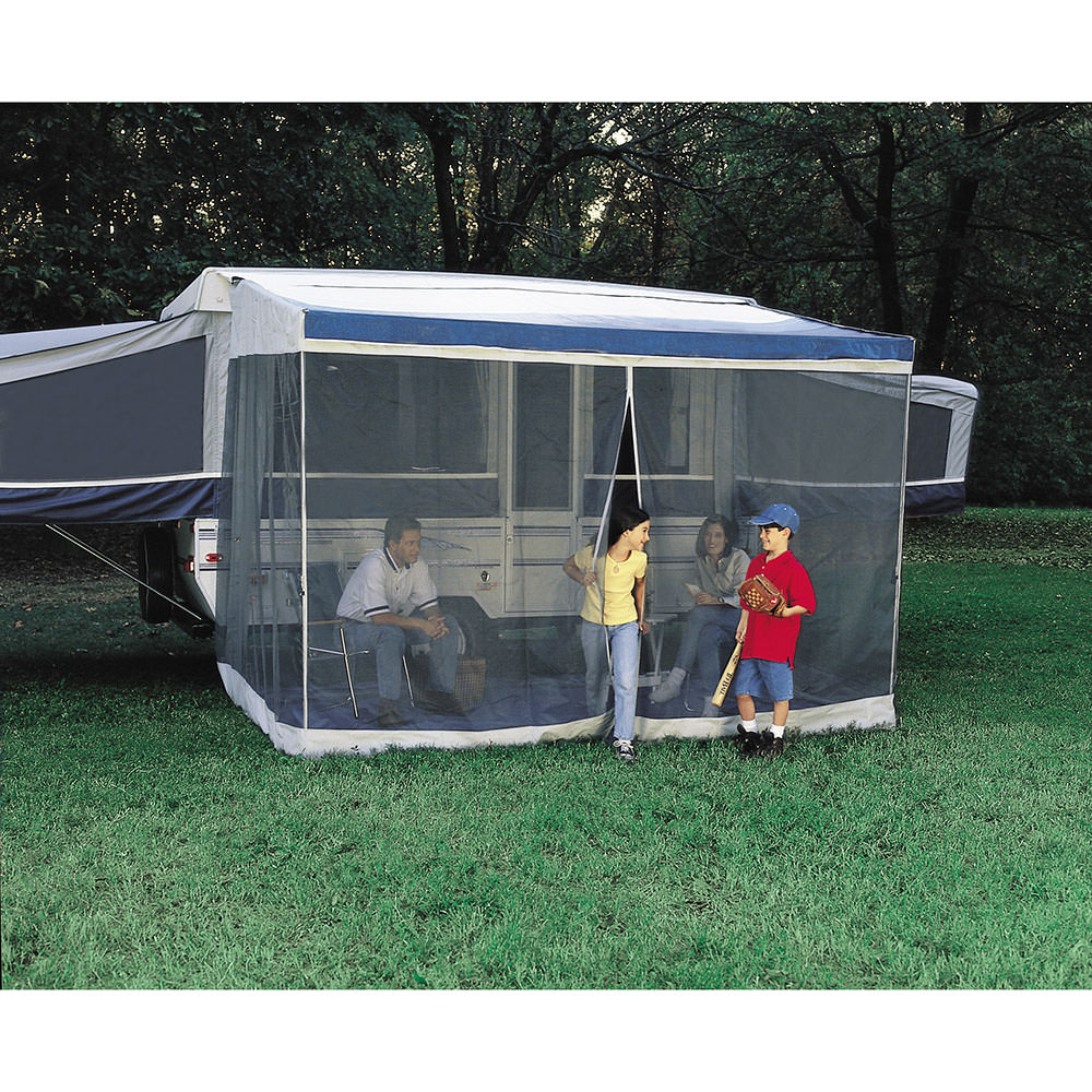 medium resolution of dometic trim line screen room with privacy panels dometic awning rooms camping world