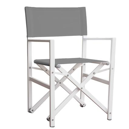 directors chair white barrel studio aluminum folding director s gray vivere ltd stuc dg x27