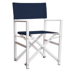 Aluminum Directors Chair Double Seater Camping Studio Folding Director S Navy Vivere Ltd Stuc Ns X27