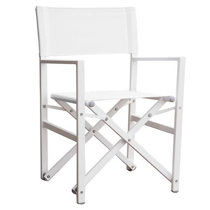 directors chair white wicker chairs and table studio aluminum folding director s vivere ltd stuc wh x27
