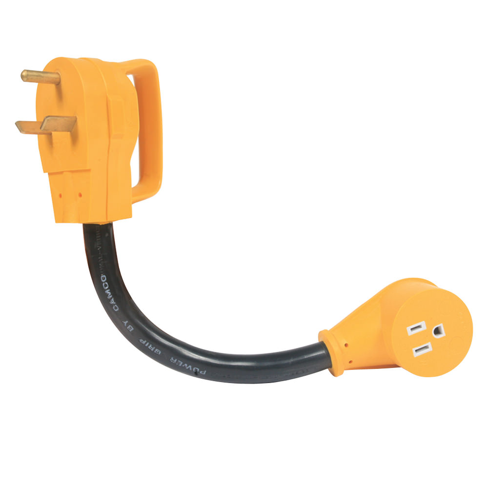 medium resolution of power grip adapter 30a male to 15a female camco 55155 electrical adapters camping world
