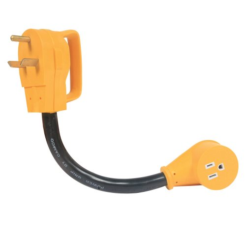 small resolution of power grip adapter 30a male to 15a female camco 55155 electrical adapters camping world