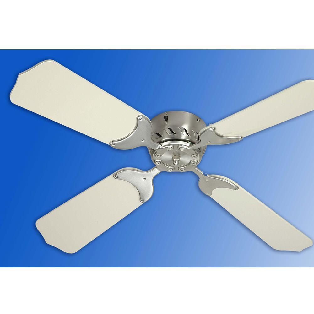 "36"" 12v Ceiling Fan  Satin Nickelwhite  Trusty 70058nw"