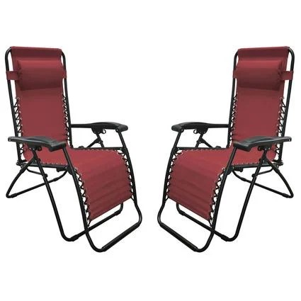 xl zero gravity chair with canopy and footrest outdoor replacement cushions recliner burgundy 2 pack caravan
